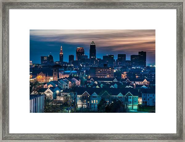 Good Night Cleveland Framed Print