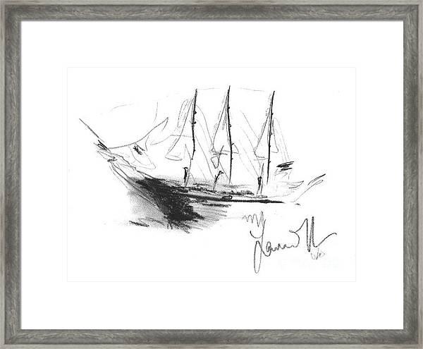 Great Men Sailing Framed Print