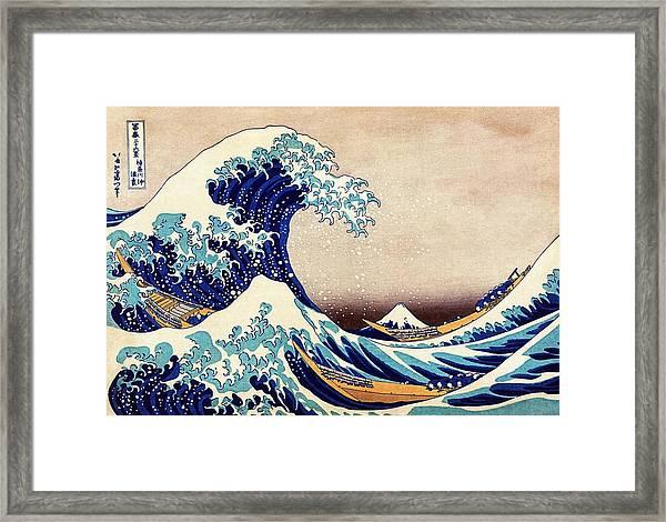 Great Wave Off Kanagawa Framed Print