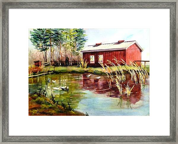 Green Acre Farm Framed Print