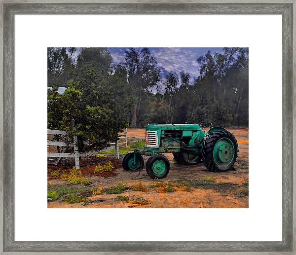 Green Oliver Tractor Framed Print