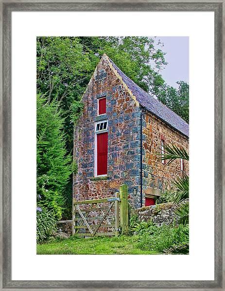 Guernsey Barn Framed Print