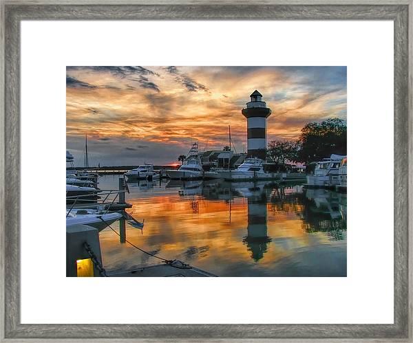 Harbour Town Sunset Framed Print
