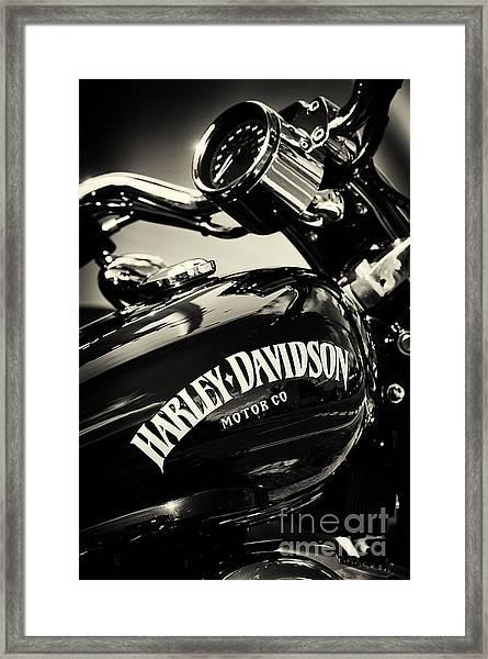 Harley D Sepia Framed Print