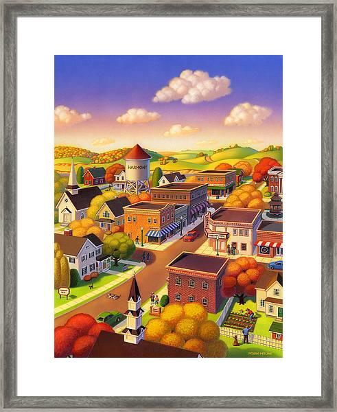 Harmony Town Framed Print