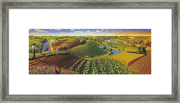 Harvest Panorama  Framed Print