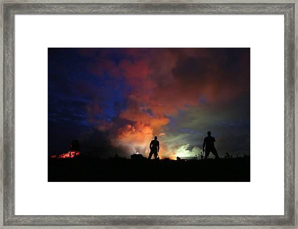 Hawaiis Kilauea Volcano Erupts Forcing Framed Print