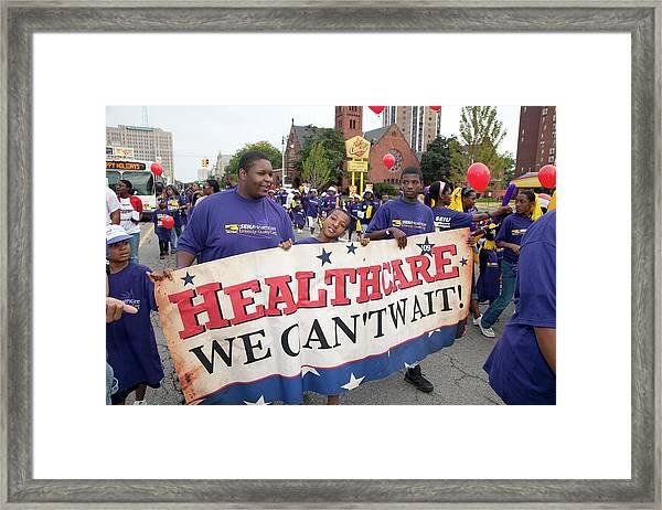 Healthcare Reform Campaign Framed Print