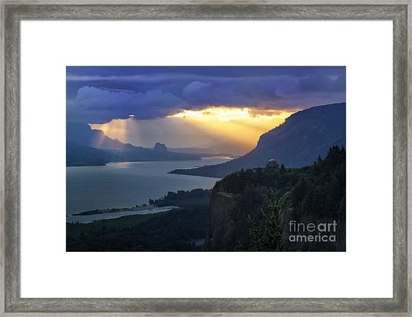 Heavenly Sunrise Framed Print