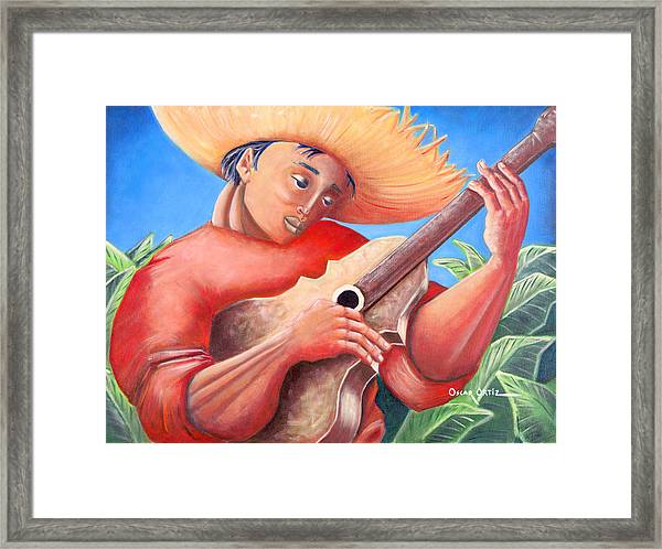 Framed Print featuring the painting Hidalgo Campesino by Oscar Ortiz