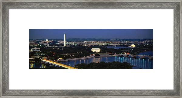 High Angle View Of A City, Washington Framed Print