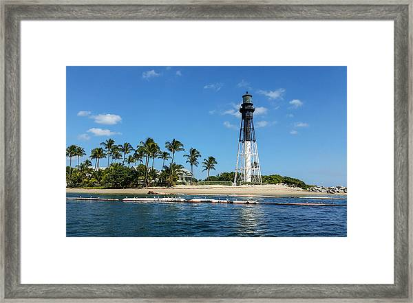 Hillsboro Inlet Lighthouse Framed Print
