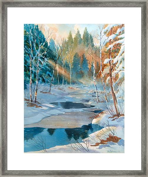 Hinchinbrooke Creek In Spring Framed Print