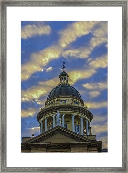 Historic Auburn Courthouse Framed Print