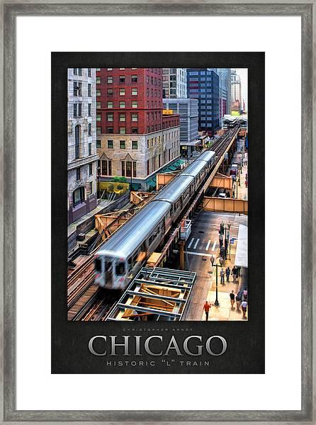 Historic Chicago El Train Poster Framed Print