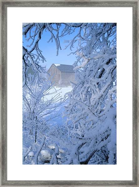 Hoarfrost Farm Framed Print