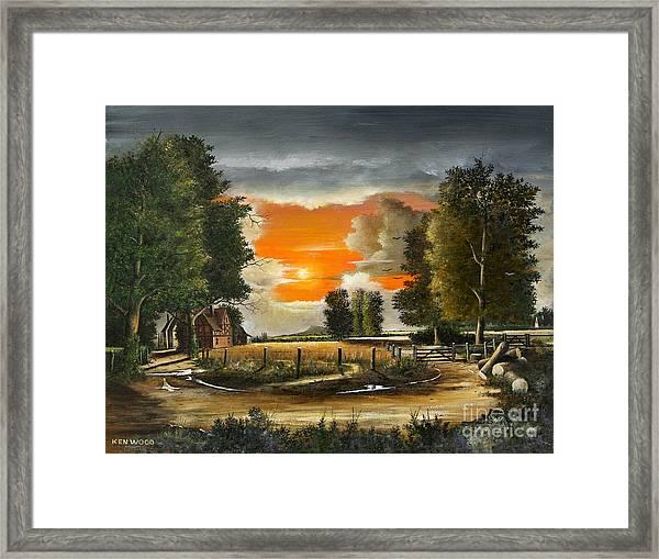 Hoggets Farm Framed Print