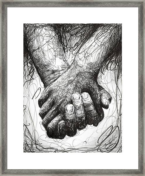 Holding Hands Framed Print