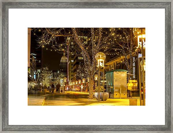 Holiday Lights In Denver Colorado Framed Print