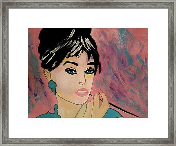 Audrey Hepburn - Holly  Framed Print
