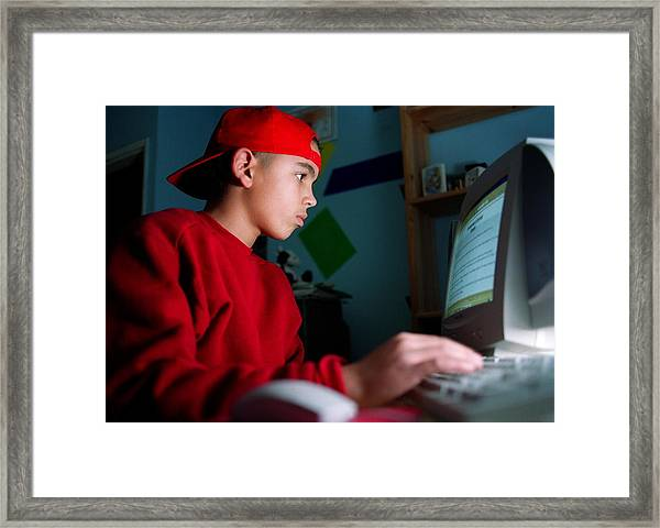 Home Computing Framed Print by Bluestone/science Photo Library