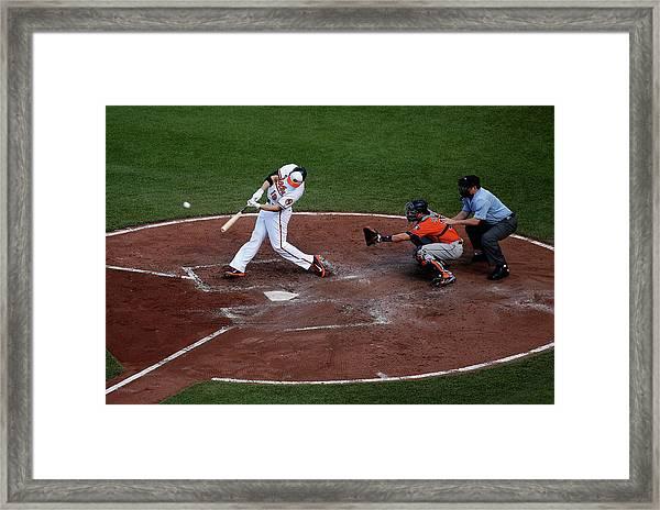 Houston Astros V Baltimore Orioles Framed Print