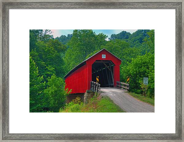 Hune Covered Bridge Framed Print
