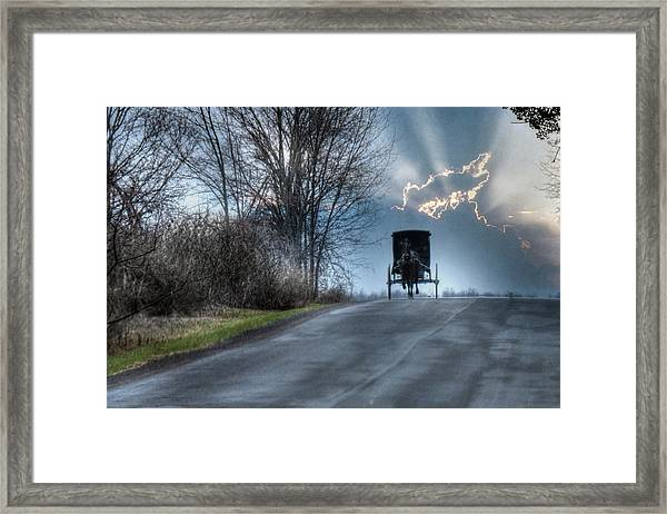 Hurry Home Framed Print