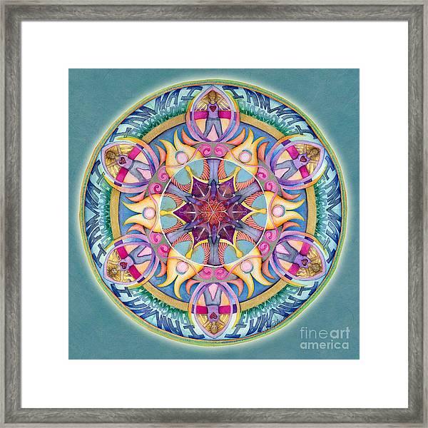 I Am Enough Mandala Framed Print