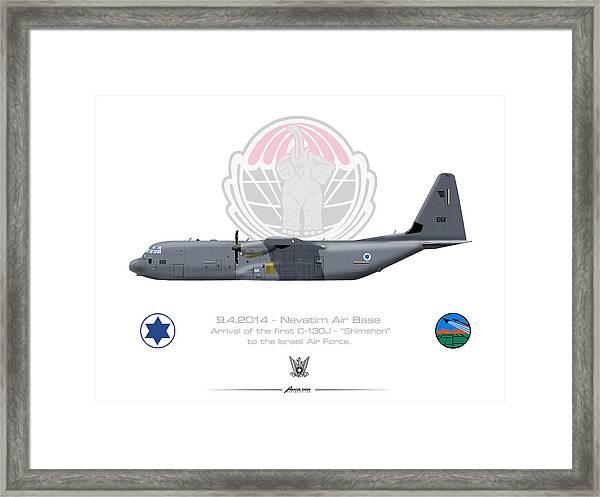 Isralei Air Force C-130j Shimshon Framed Print