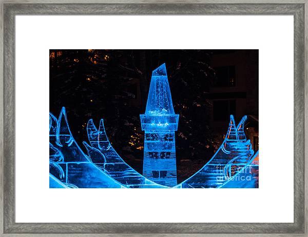 Ice Tower Framed Print