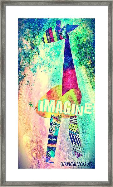 Imagine Framed Print by Currie Silver