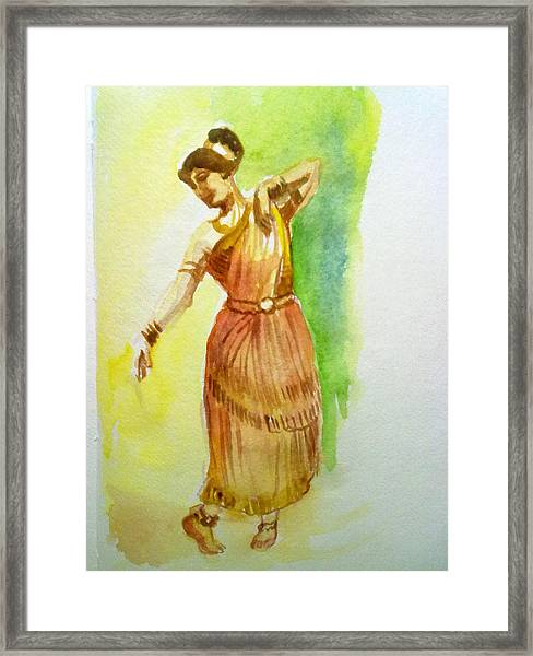Indian Dancer Framed Print