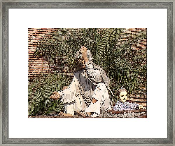 Indian Village Framed Print by Bliss Of Art
