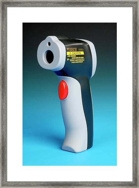 Infrared Laser Thermometer Framed Print