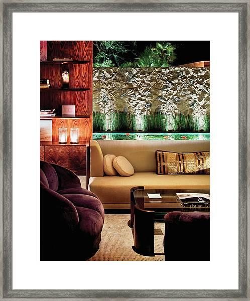 Interior Of Modern Living Room Framed Print