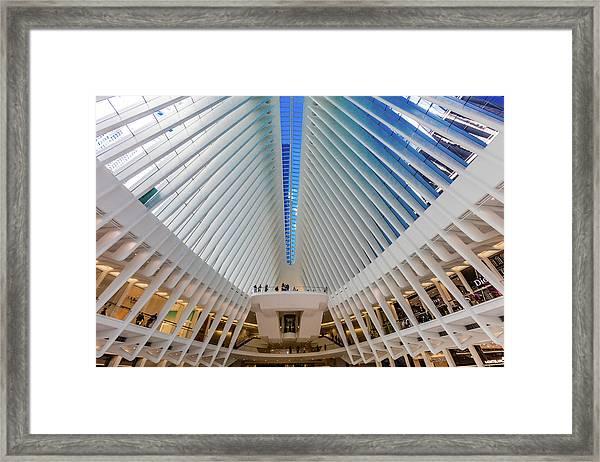 Interior View Of Oculus Transportation Framed Print