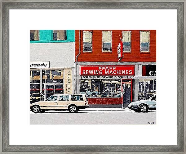 J Street Framed Print by Paul Guyer