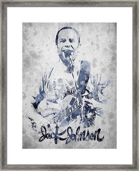 Jack Johnson Portrait Framed Print