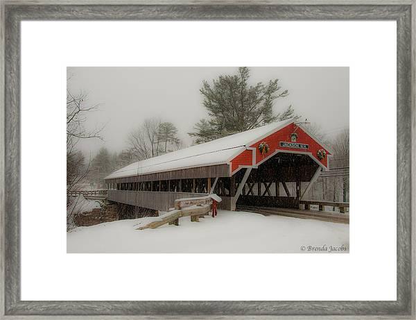 Jackson Nh Covered Bridge Framed Print