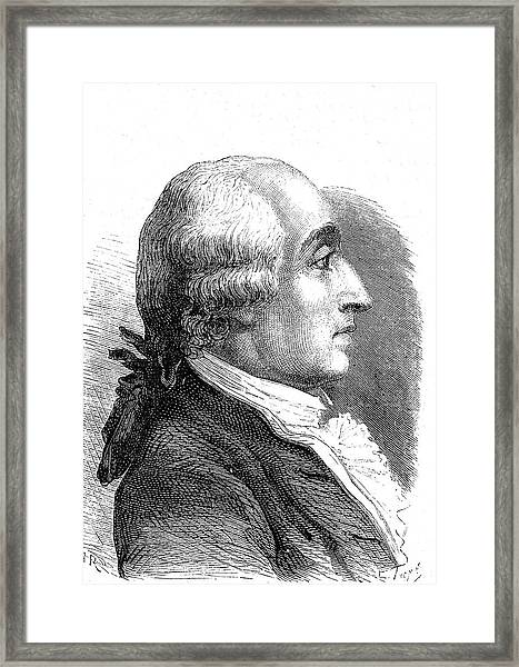 Jacques Charles Framed Print by Collection Abecasis/science Photo Library