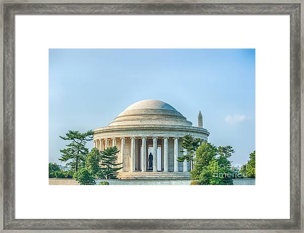 Jefferson Memorial Framed Print