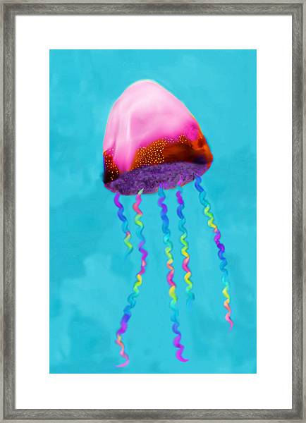 Jelly The Fish Framed Print