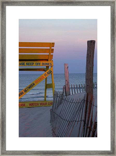 Framed Print featuring the photograph Jersey Shore by David Armstrong