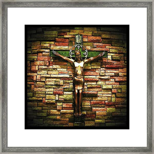 Jesus Is His Name Black Border Framed Print
