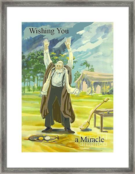 Kabbala Miracle Framed Print