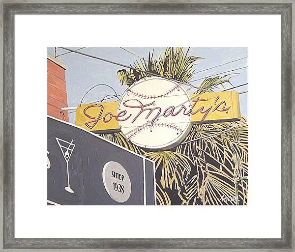 Joe Marty's Framed Print by Paul Guyer