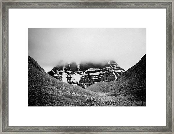 Kailash Mountain North Slope Framed Print