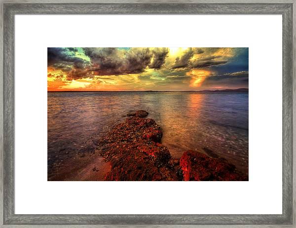 Karuah Sunset Framed Print