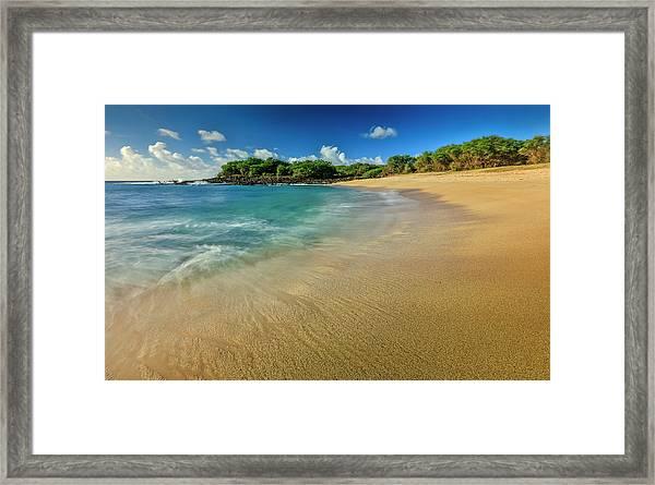 Kaupoa Bay Shoreline On Molokais West Framed Print